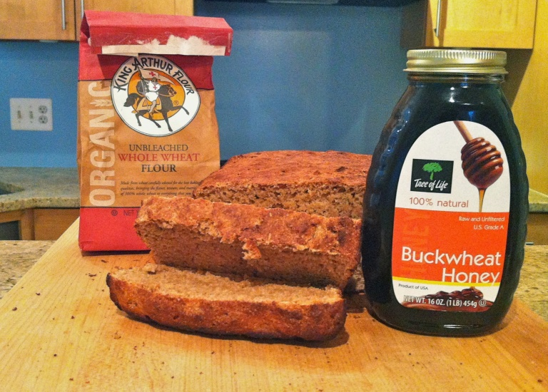 Honey whole wheat beer bread