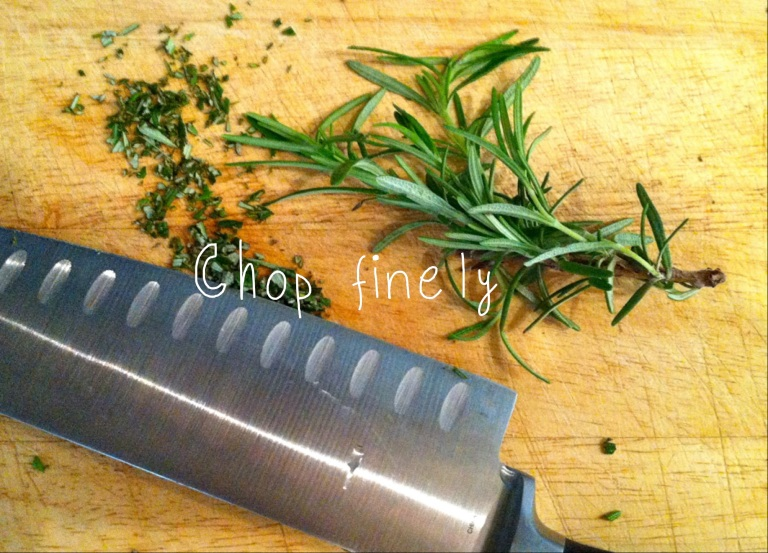 Chop finely