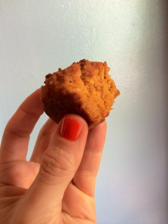 Sweet potato muffin bite