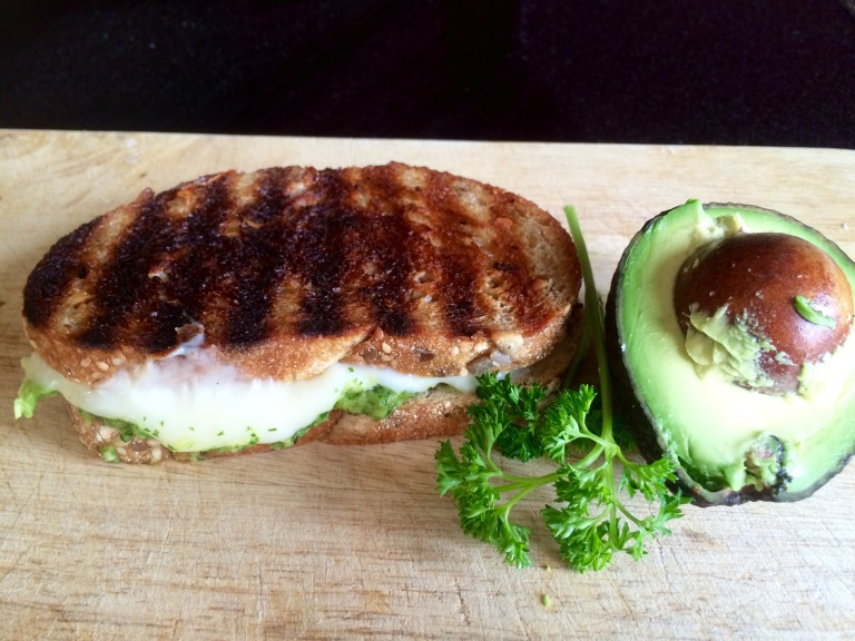 Chimichurri grilled cheese