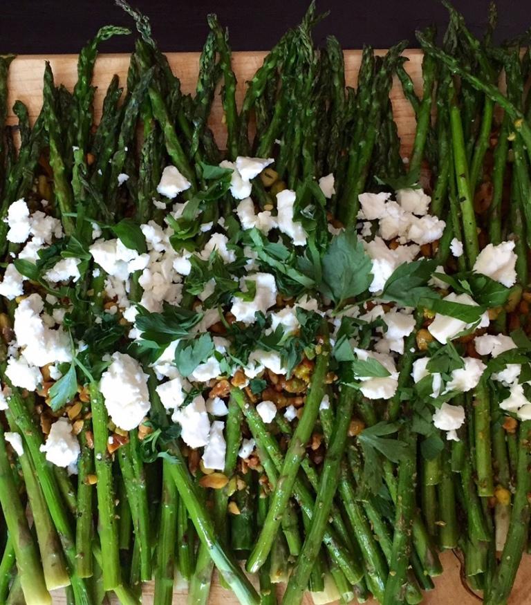 Pistachio asparagus